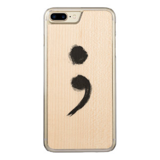 Semikolon-Telefon Carved iPhone 8 Plus/7 Plus Hülle