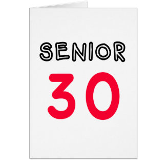Senior 30 karte