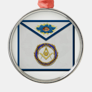 seniordeaconMasonic ältere Diakon Apronapron Rundes Silberfarbenes Ornament