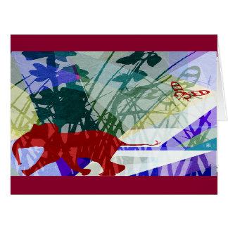 Senkrechter Naughty elephant card Karte