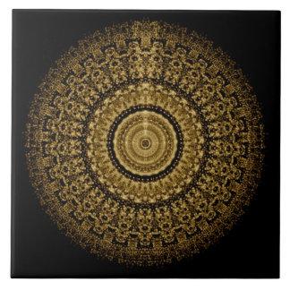 Sepia-Mandala-Fliese Fliese