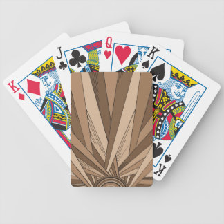 Sepia-Sonnenaufgang, der Plattform spielt Pokerkarten