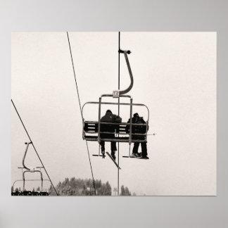 Sepiaton-Skidruck, gelangend an die Spitze Poster