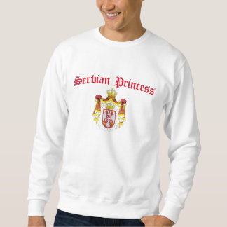 Serbische Prinzessin (mit Serbien-Wappen) Sweatshirt