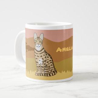 Serengeti Katzen-Zucht-afrikanische Savanne Jumbo-Tassen