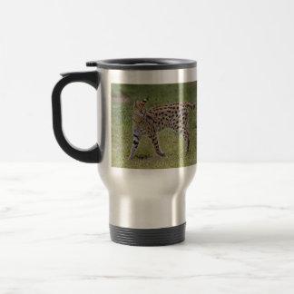 Serval-wilde afrikanische Katze Reisebecher