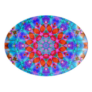Servierplattenkaleidoskop Diamant-Blume G408 Porzellan Servierplatte