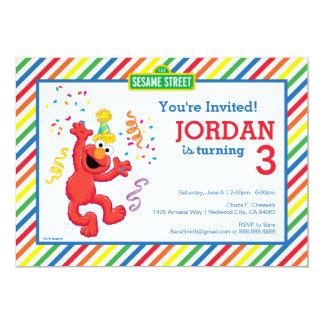 Sesame Street   Elmo - Regenbogen-Geburtstag 12,7 X 17,8 Cm Einladungskarte