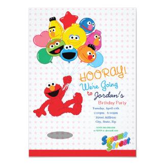 Sesame Street   Elmo und Kumpel - 11,4 X 15,9 Cm Einladungskarte