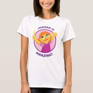Sesame Street   Julia, die Feder hält T-Shirt
