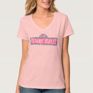 Sesame Street-rosa Zeichen-Logo T-Shirt