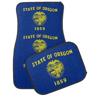 Set Automatten mit Flagge von Oregon-Staat, USA Automatte