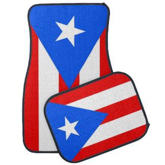 Set Automatten mit Flagge von Puerto Rico, USA Autofußmatte