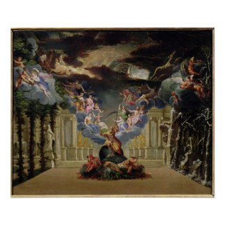 """Setentwurf für """"Atys"""" durch Jean-Baptiste Lully Poster"""
