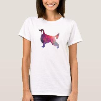 Setter-geometrische Muster-Schwarz-Silhouette T-Shirt