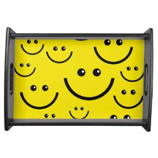Setzen Sie an einen Smiley Tablett