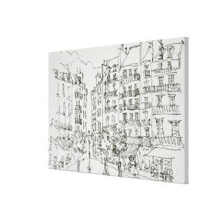 Setzen Sie Dauphine, Ile de la Cite | Paris, Leinwanddruck