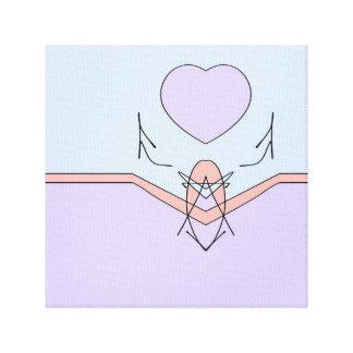 Setzen Sie Ihr Herz in alles ein, das Sie tun Leinwanddruck