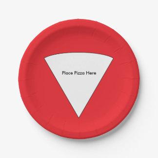 """""""Setzen Sie Pizza-hier"""" PapierTeller"""