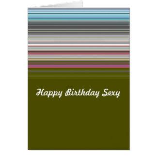 Sexy alles Gute zum Geburtstag striped Karte