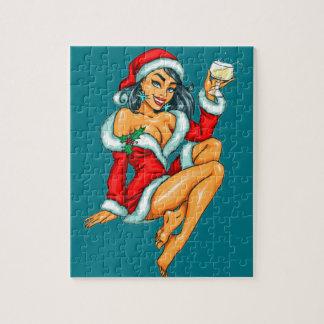 sexy Weihnachtspinupmädchen Puzzle