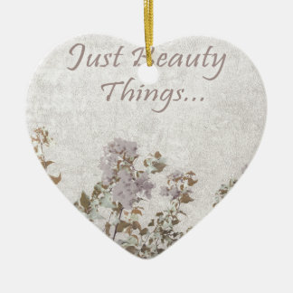 Shabby Chic-Art-motivierend Zitat Keramik Herz-Ornament