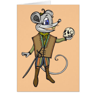 Shakespeare- Maus Mitteilungskarte