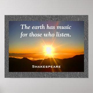 Shakespeare - Musikplakat Poster