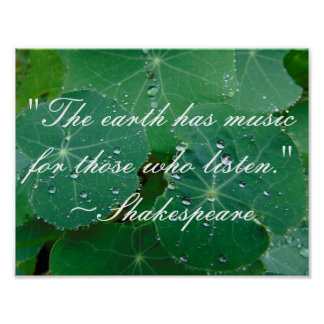 Shakespeare-Natur-Zitat-Foto Poster