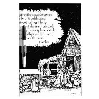 Shakespeare-Weihnachten Trockenlöschtafel