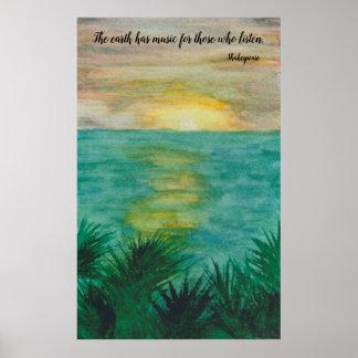 Shakespeare-Zitat auf Landschaft Poster