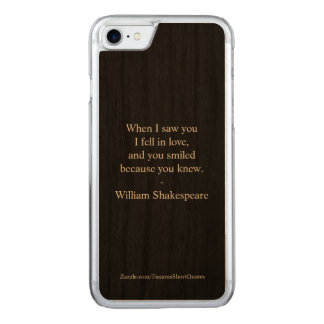 Shakespeare-Zitat - ich fiel in Liebe Carved iPhone 8/7 Hülle