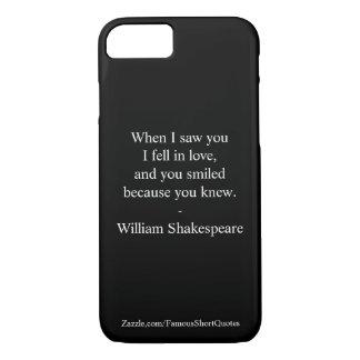 Shakespeare-Zitat - ich fiel in Liebe iPhone 8/7 Hülle