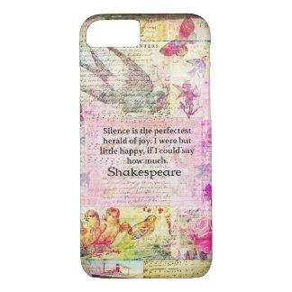 Shakespeare-Zitat über FREUDE und RUHE iPhone 8/7 Hülle