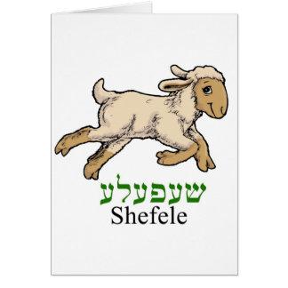 """""""Shefeleh"""" - kleines Lamm Grußkarte"""