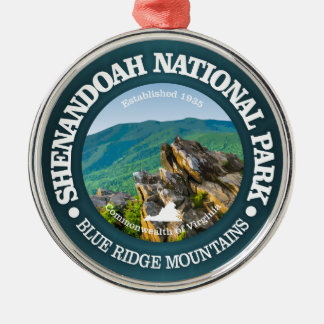 Shenandoah Nationalpark Rundes Silberfarbenes Ornament