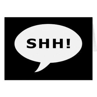 SHH! sprechenblase Karte