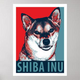 Shiba Inu Hundepatriotisches politisches Poster