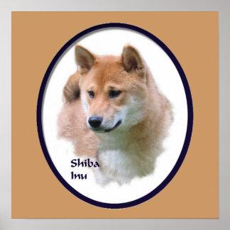 Shiba Inu Kunst-Druck Poster