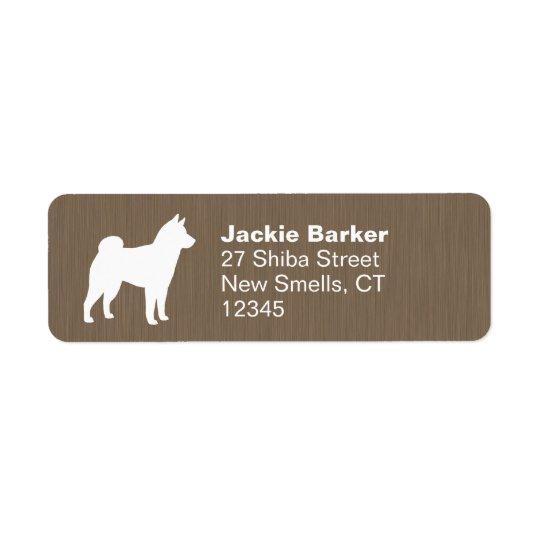 Shiba Inu Silhouette Rückversand-Adressaufkleber