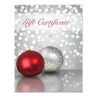 Shimmery Weihnachtsverzierungen - 10,8 X 14 Cm Einladungskarte