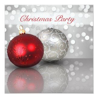 Shimmery Weihnachtsverzierungen - Einladung