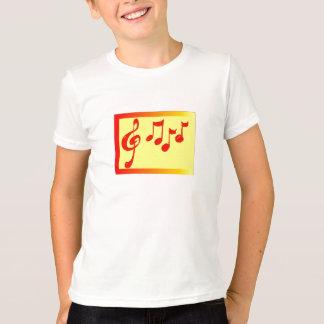 Shirt der musikalischen Anmerkungen Kinder