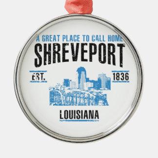 Shreveport Silbernes Ornament