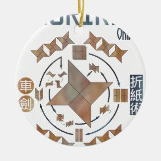 Shuriken Origami Keramik Ornament