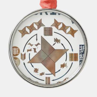 Shuriken Origami Silbernes Ornament