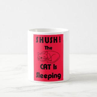 SHUSH! Die Katze schläft Tasse
