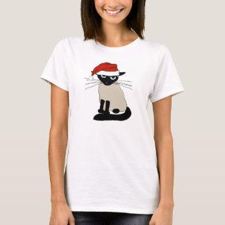Siamesischer Weihnachtsmann - lustige T-Shirt