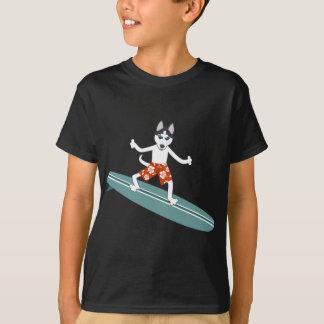 Sibirischer Husky Longboard Surfer T-Shirt