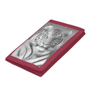 Sibirischer Tiger-Porträt in Schwarzweiss
